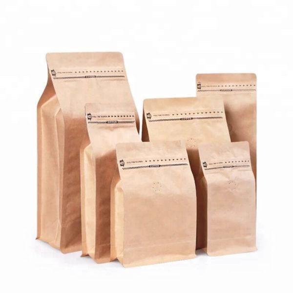 KRAFT COFFEE BAGS WITH VALVE